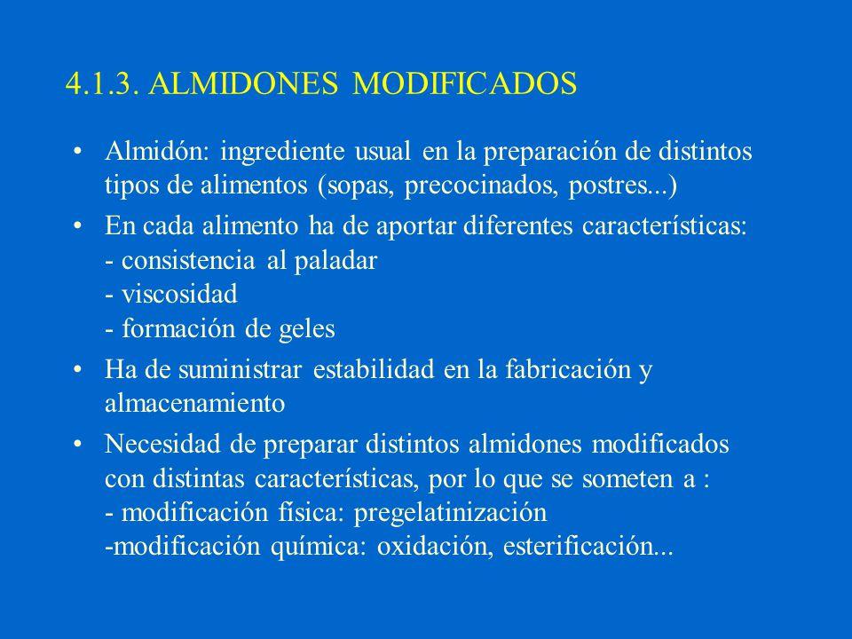 4.1.3. ALMIDONES MODIFICADOS