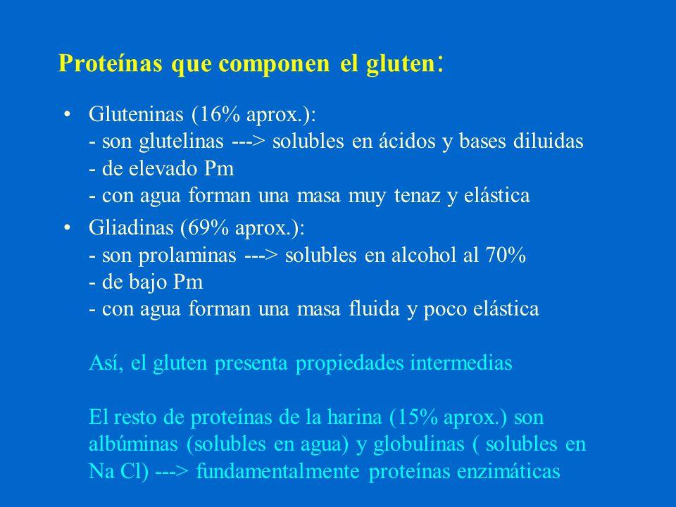 Proteínas que componen el gluten: