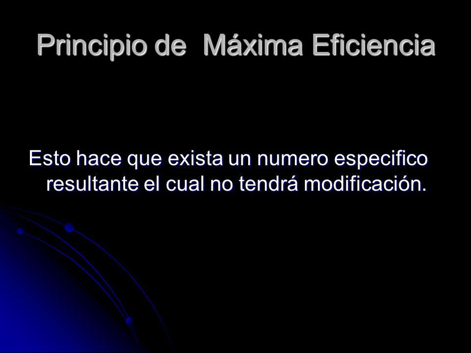 Principio de Máxima Eficiencia
