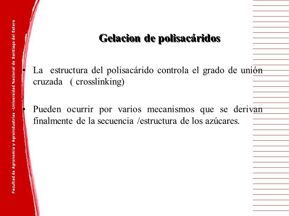 Gelacion de polisacáridos