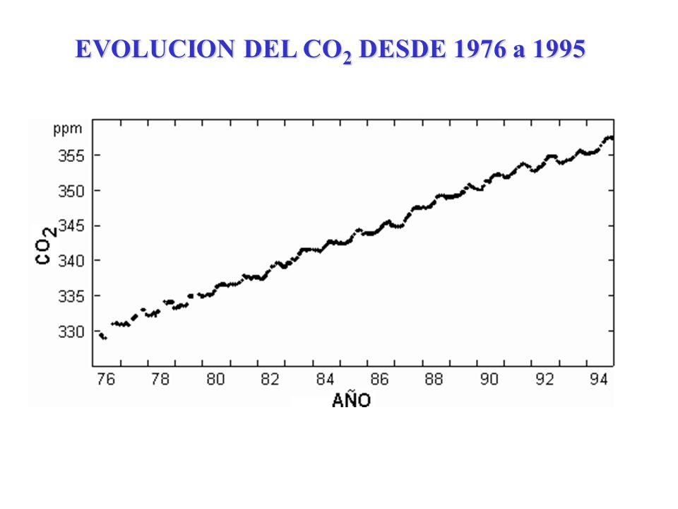 EVOLUCION DEL CO2 DESDE 1976 a 1995
