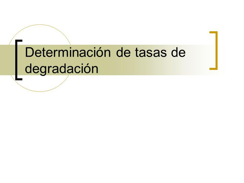 Determinación de tasas de degradación