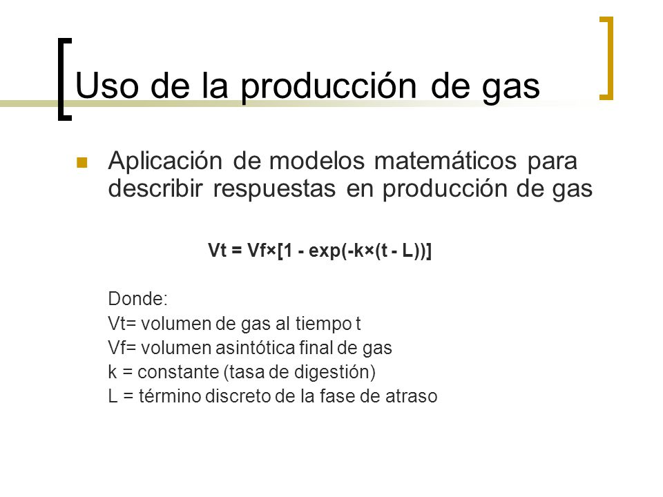 Uso de la producción de gas
