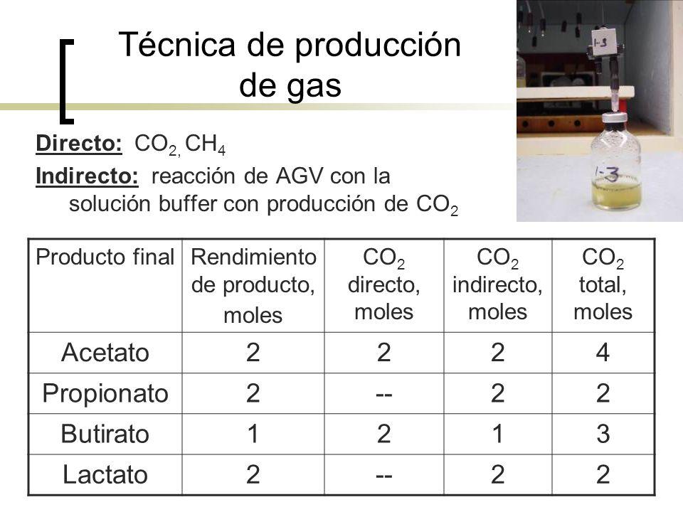 Técnica de producción de gas