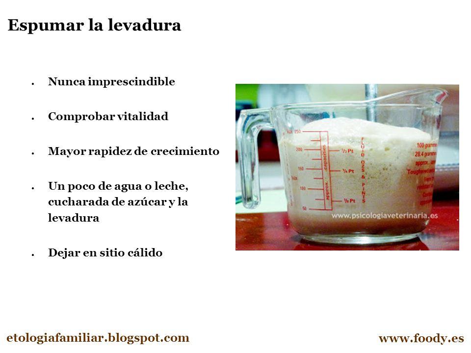 Espumar la levadura etologiafamiliar.blogspot.com www.foody.es