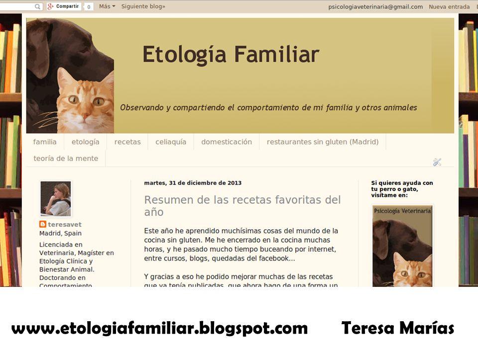 www.etologiafamiliar.blogspot.com Teresa Marías