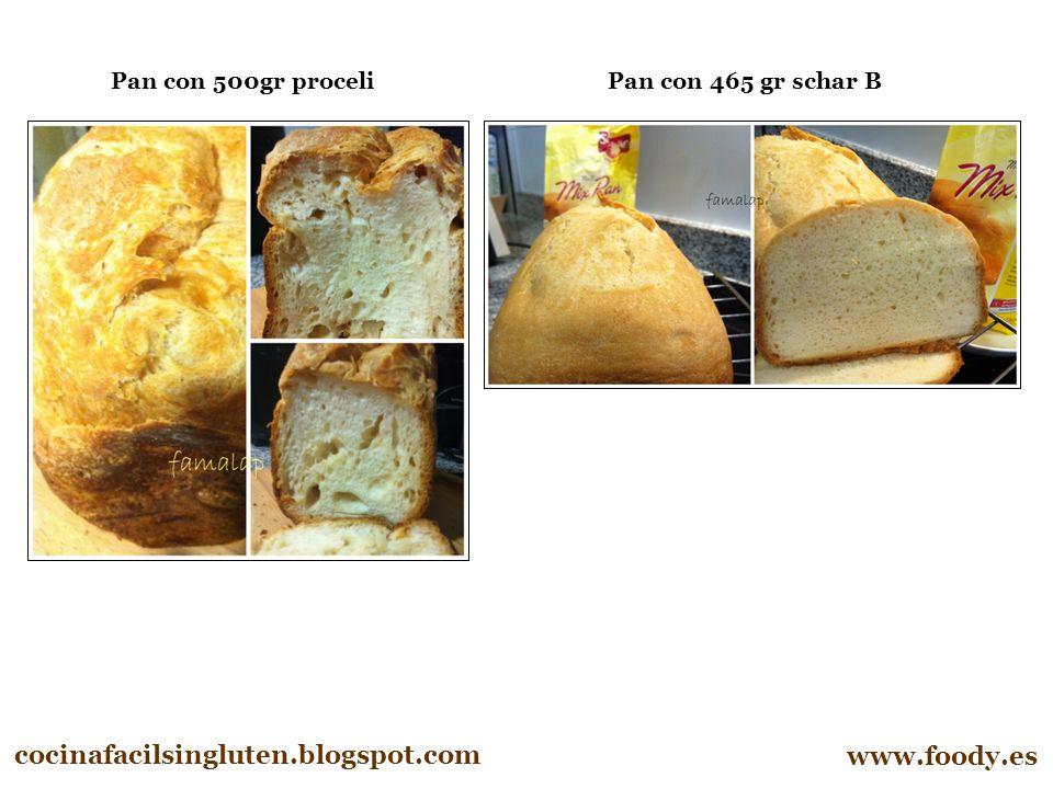 cocinafacilsingluten.blogspot.com www.foody.es Pan con 465 gr schar B