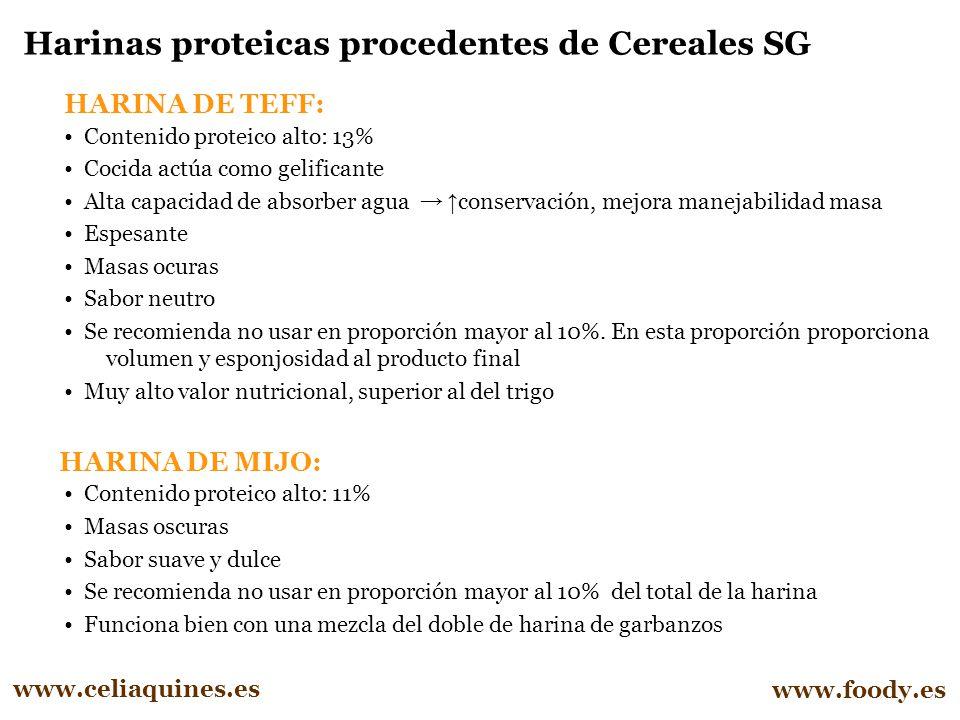 Harinas proteicas procedentes de Cereales SG