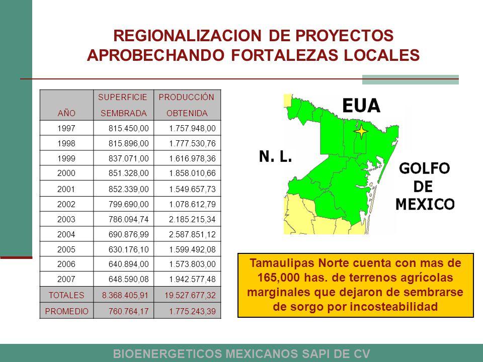 REGIONALIZACION DE PROYECTOS APROBECHANDO FORTALEZAS LOCALES