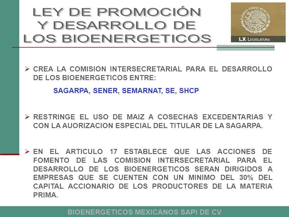 BIOENERGETICOS MEXICANOS SAPI DE CV