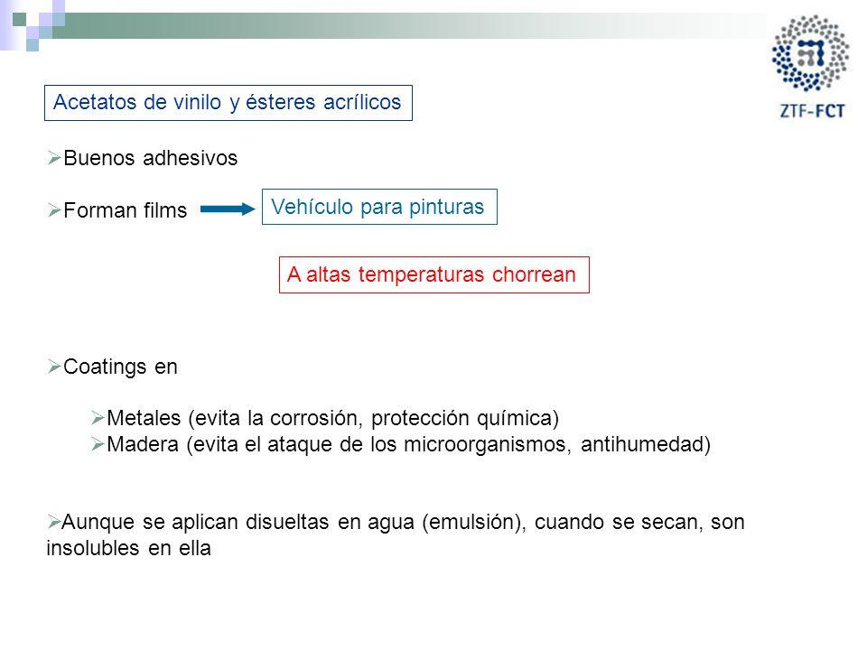 Acetatos de vinilo y ésteres acrílicos