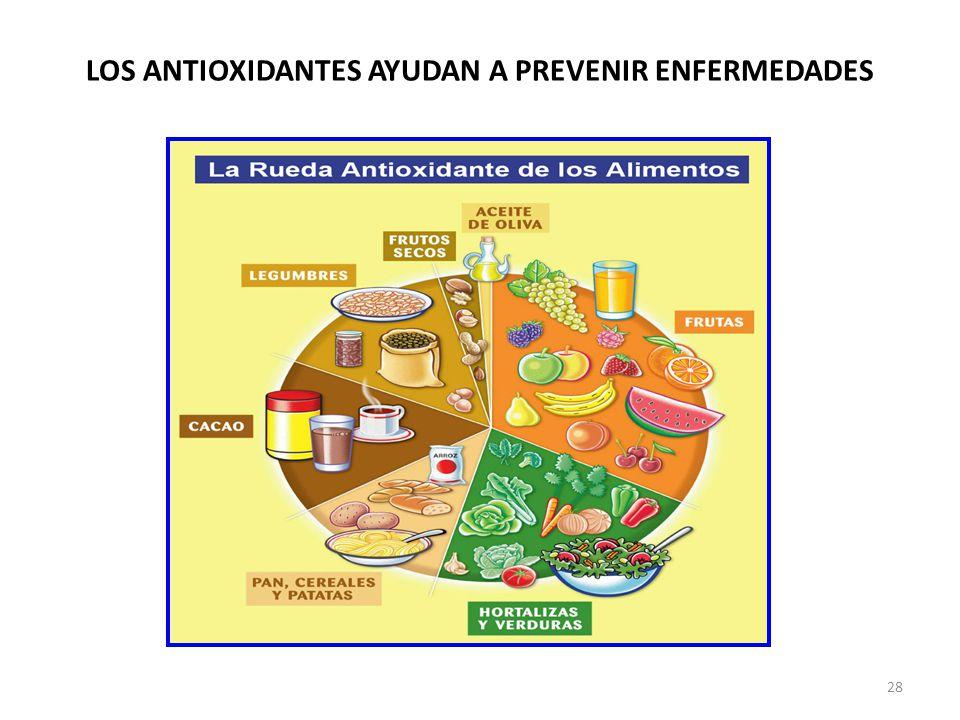 LOS ANTIOXIDANTES AYUDAN A PREVENIR ENFERMEDADES