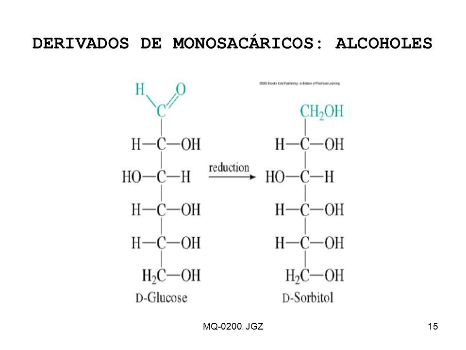 DERIVADOS DE MONOSACÁRICOS: ALCOHOLES