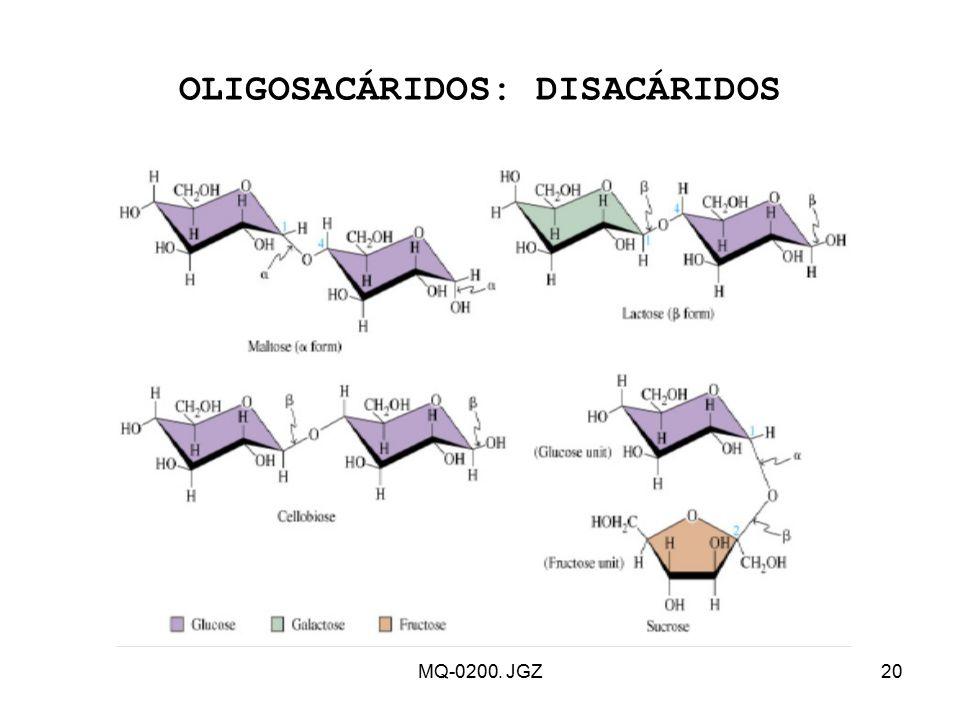 OLIGOSACÁRIDOS: DISACÁRIDOS