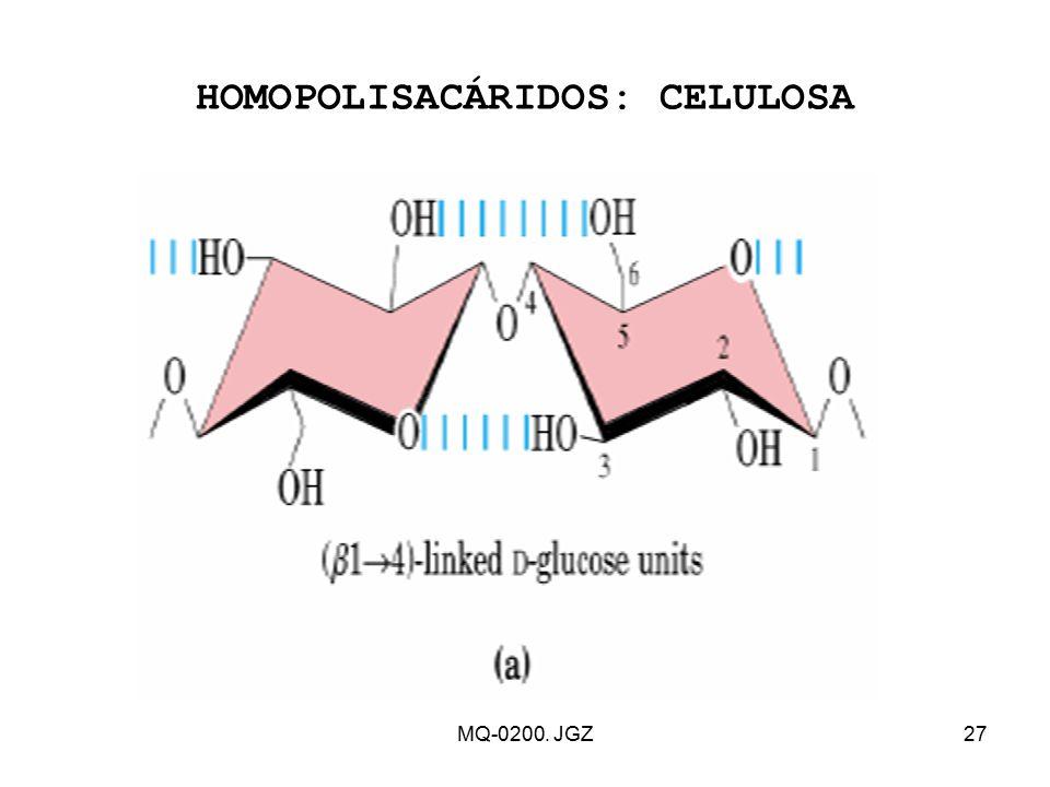 HOMOPOLISACÁRIDOS: CELULOSA