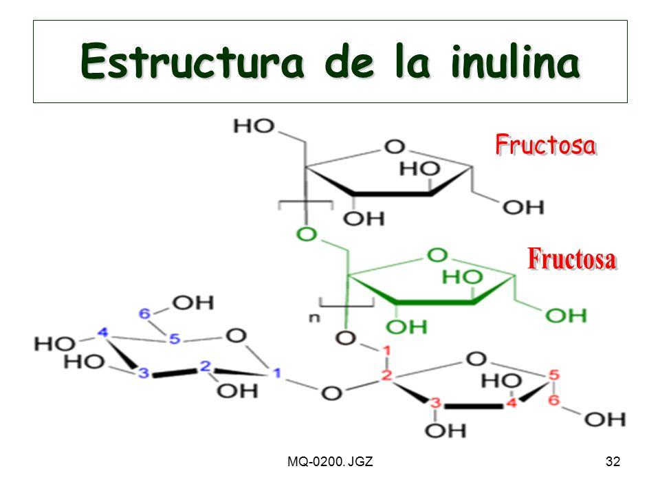 Estructura de la inulina