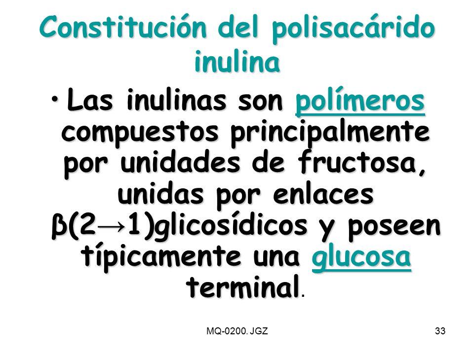 Constitución del polisacárido inulina