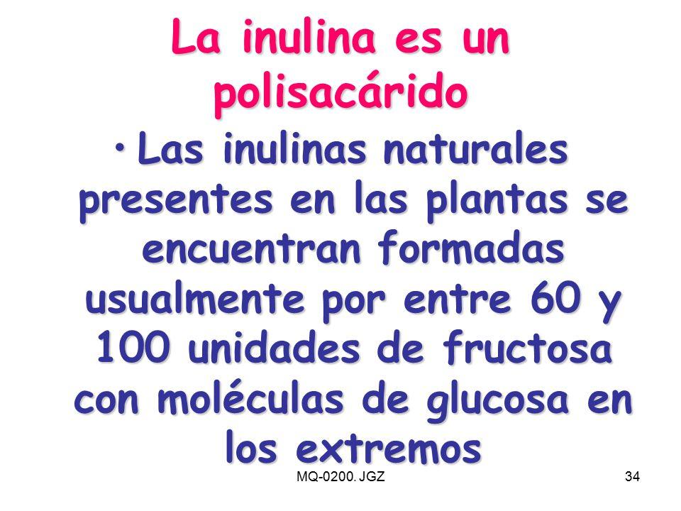 La inulina es un polisacárido