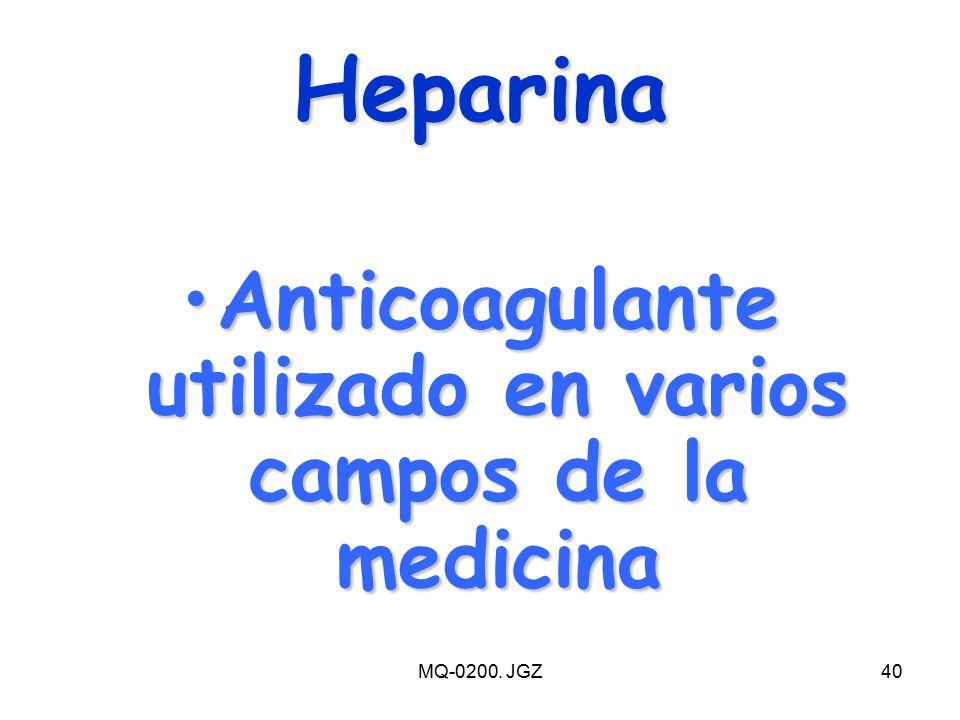 Anticoagulante utilizado en varios campos de la medicina