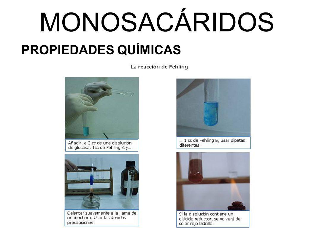 MONOSACÁRIDOS PROPIEDADES QUÍMICAS