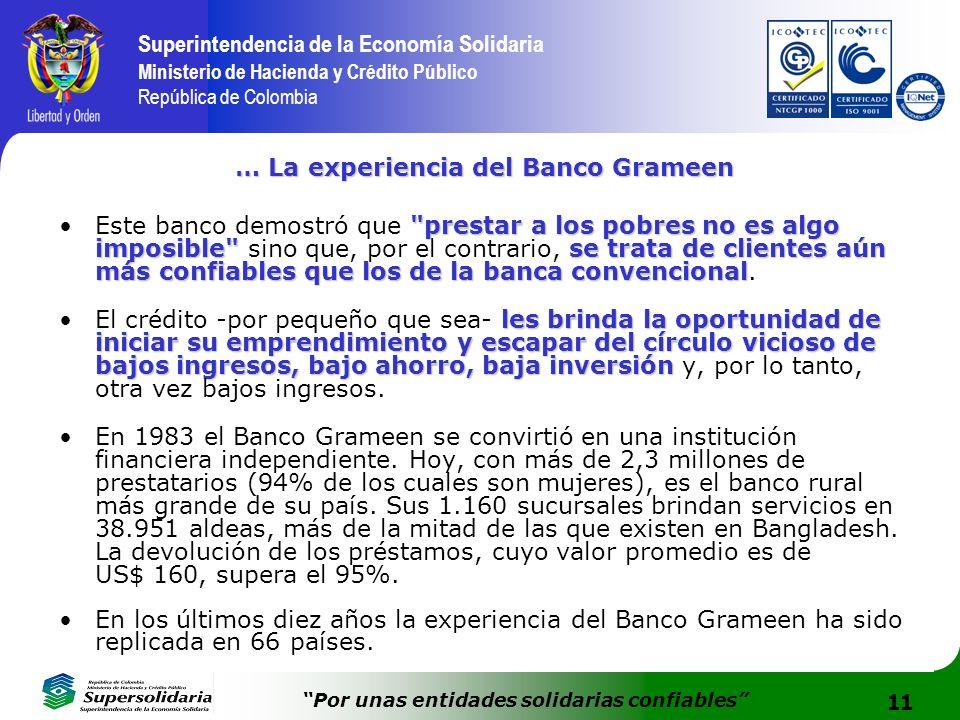 … La experiencia del Banco Grameen