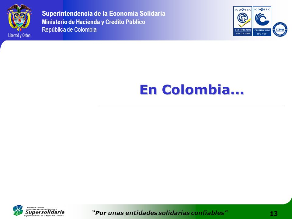 En Colombia...