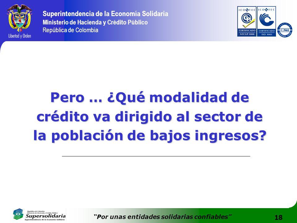 Pero … ¿Qué modalidad de crédito va dirigido al sector de la población de bajos ingresos