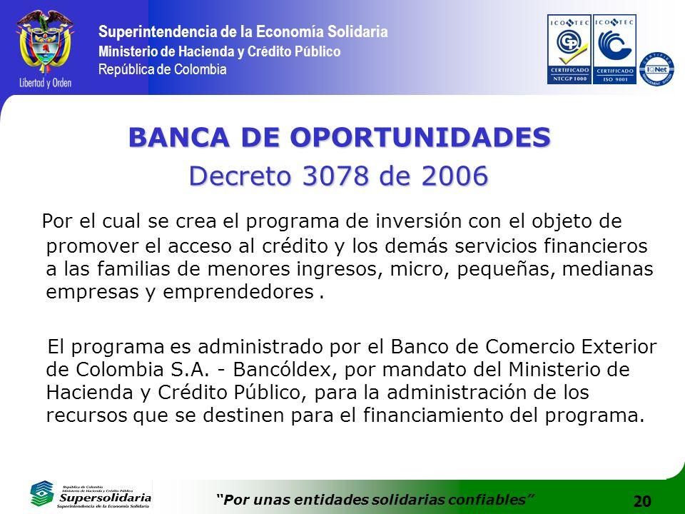 BANCA DE OPORTUNIDADES