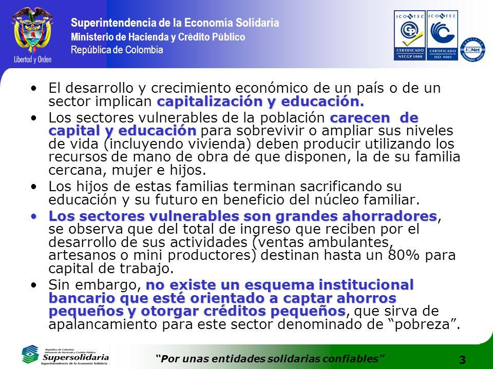 El desarrollo y crecimiento económico de un país o de un sector implican capitalización y educación.