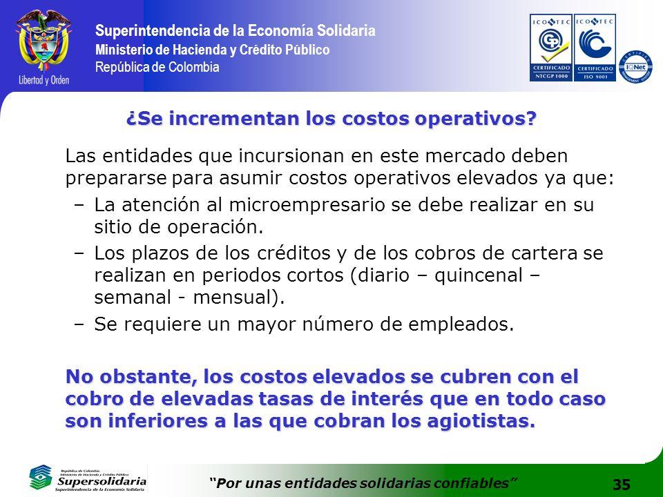 ¿Se incrementan los costos operativos