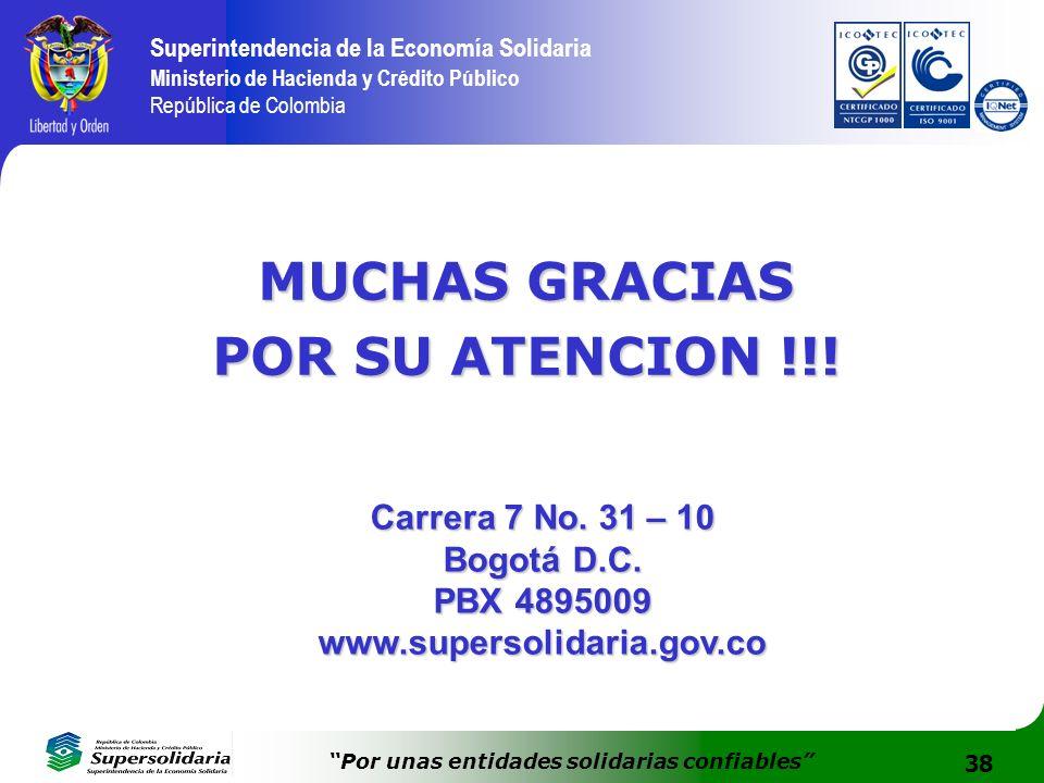 MUCHAS GRACIAS POR SU ATENCION !!!