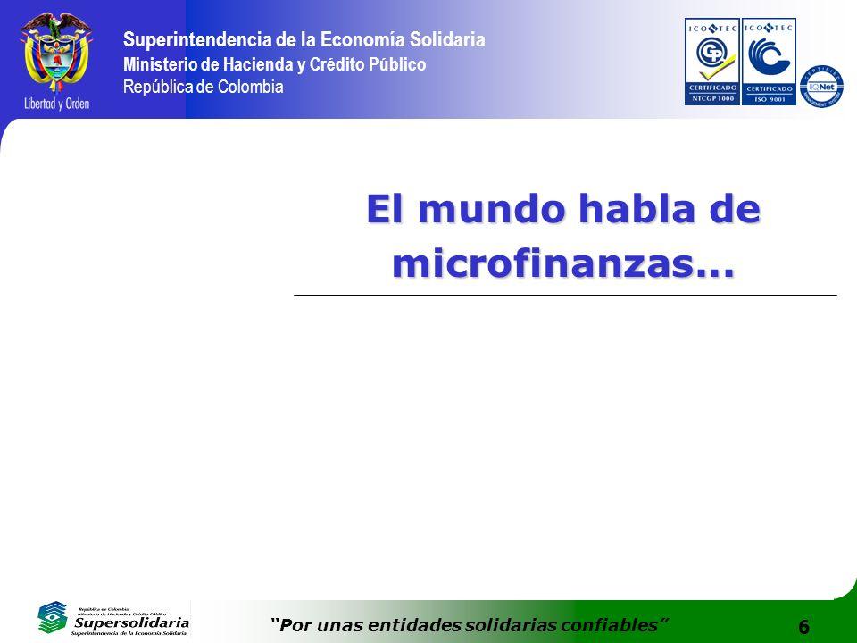 El mundo habla de microfinanzas...