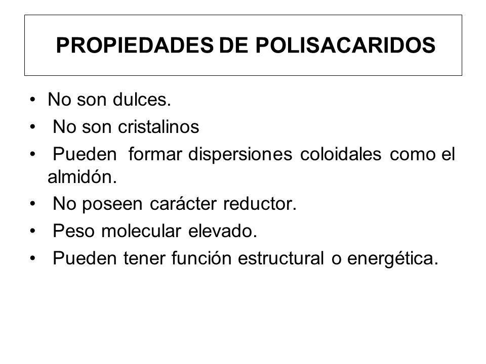 PROPIEDADES DE POLISACARIDOS