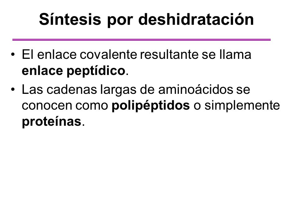 Síntesis por deshidratación