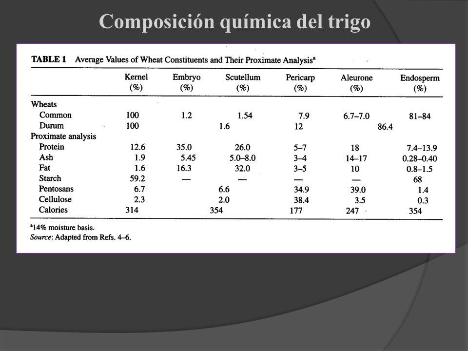 Composición química del trigo