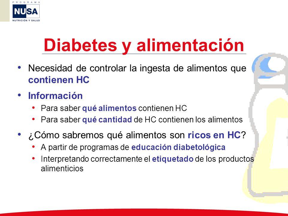 Diabetes y alimentación