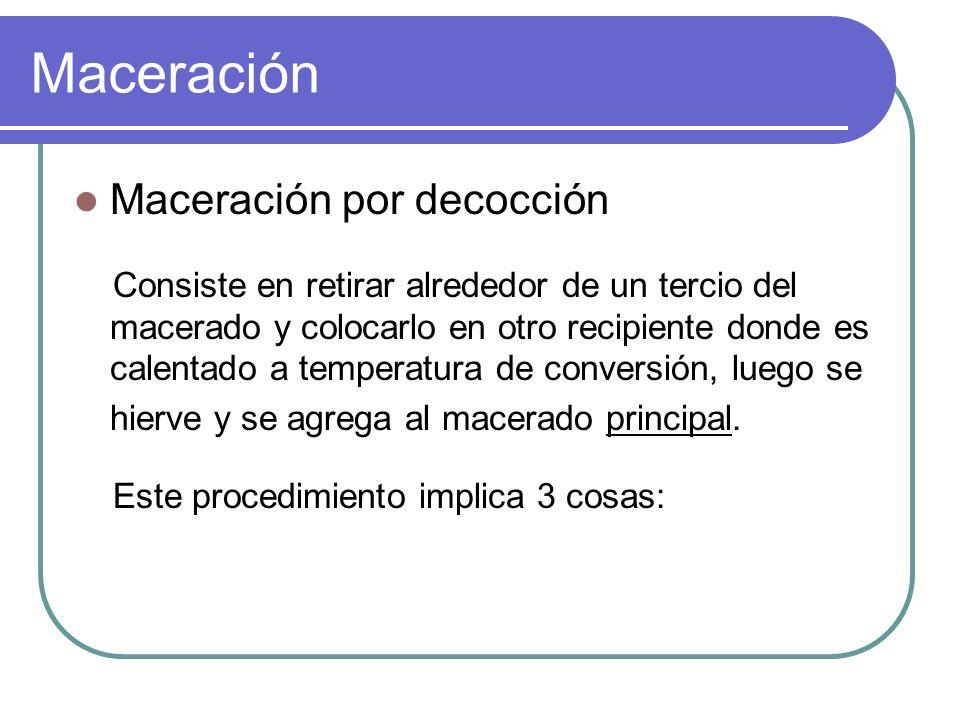 Maceración Maceración por decocción