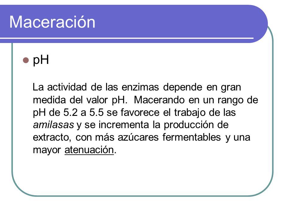 Maceración pH.
