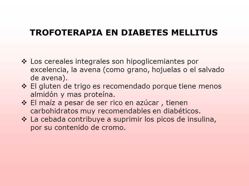 TROFOTERAPIA EN DIABETES MELLITUS