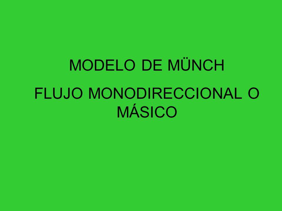 FLUJO MONODIRECCIONAL O MÁSICO