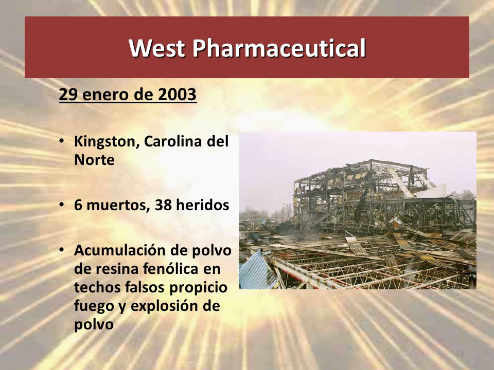 West Pharmaceutical 29 enero de 2003 Kingston, Carolina del Norte