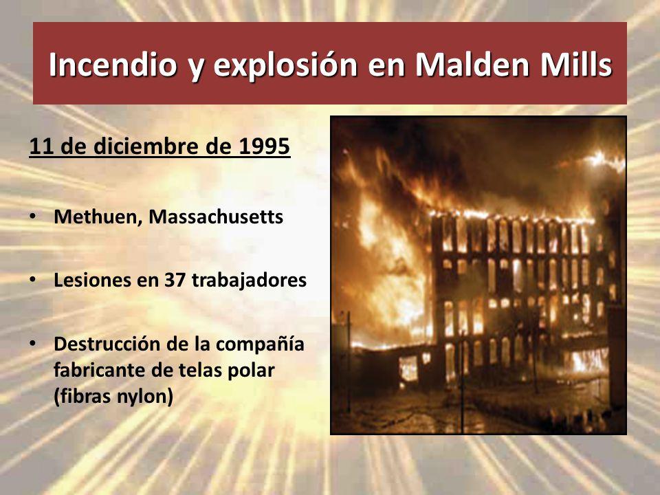 Incendio y explosión en Malden Mills