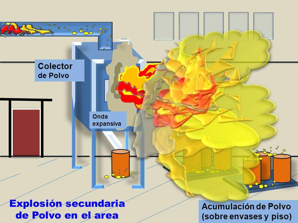 Explosión secundaria de Polvo en el area