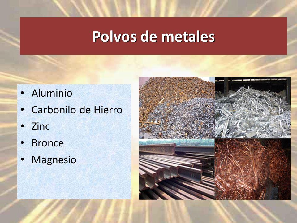 Polvos de metales Aluminio Carbonilo de Hierro Zinc Bronce Magnesio