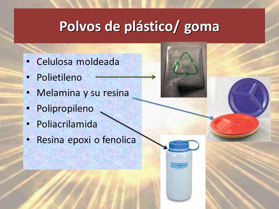 Polvos de plástico/ goma