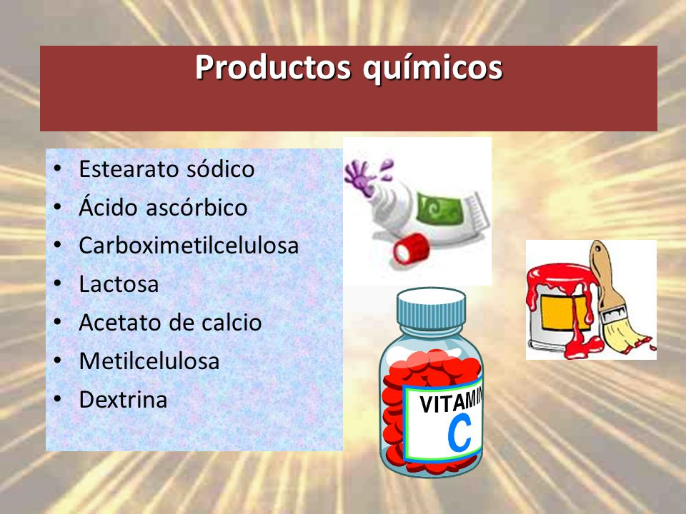 Productos químicos Estearato sódico Ácido ascórbico
