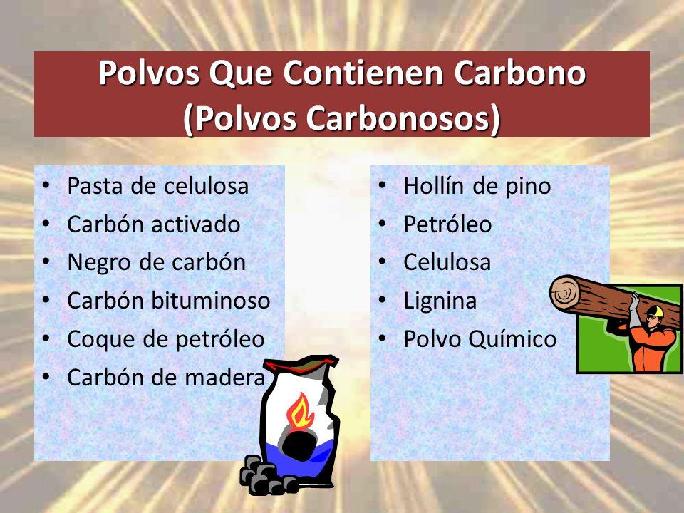 Polvos Que Contienen Carbono (Polvos Carbonosos)