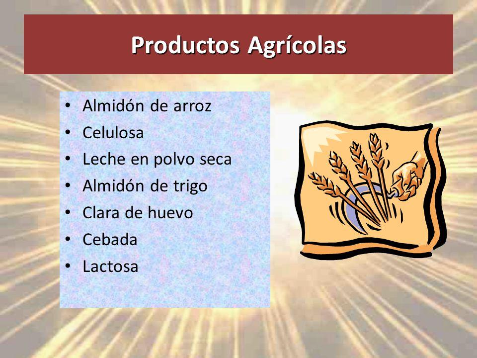 Productos Agrícolas Almidón de arroz Celulosa Leche en polvo seca