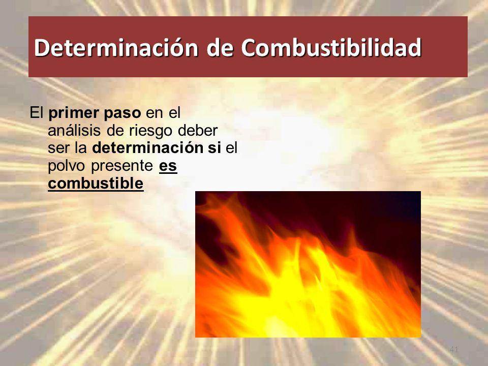 Determinación de Combustibilidad