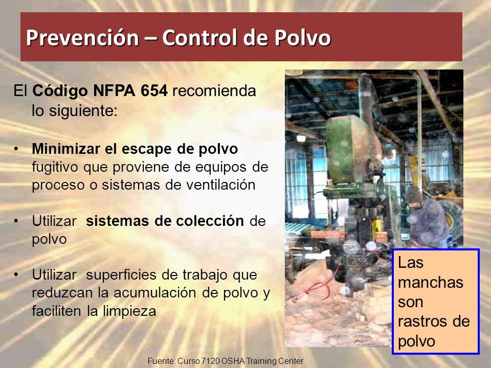 Prevención – Control de Polvo